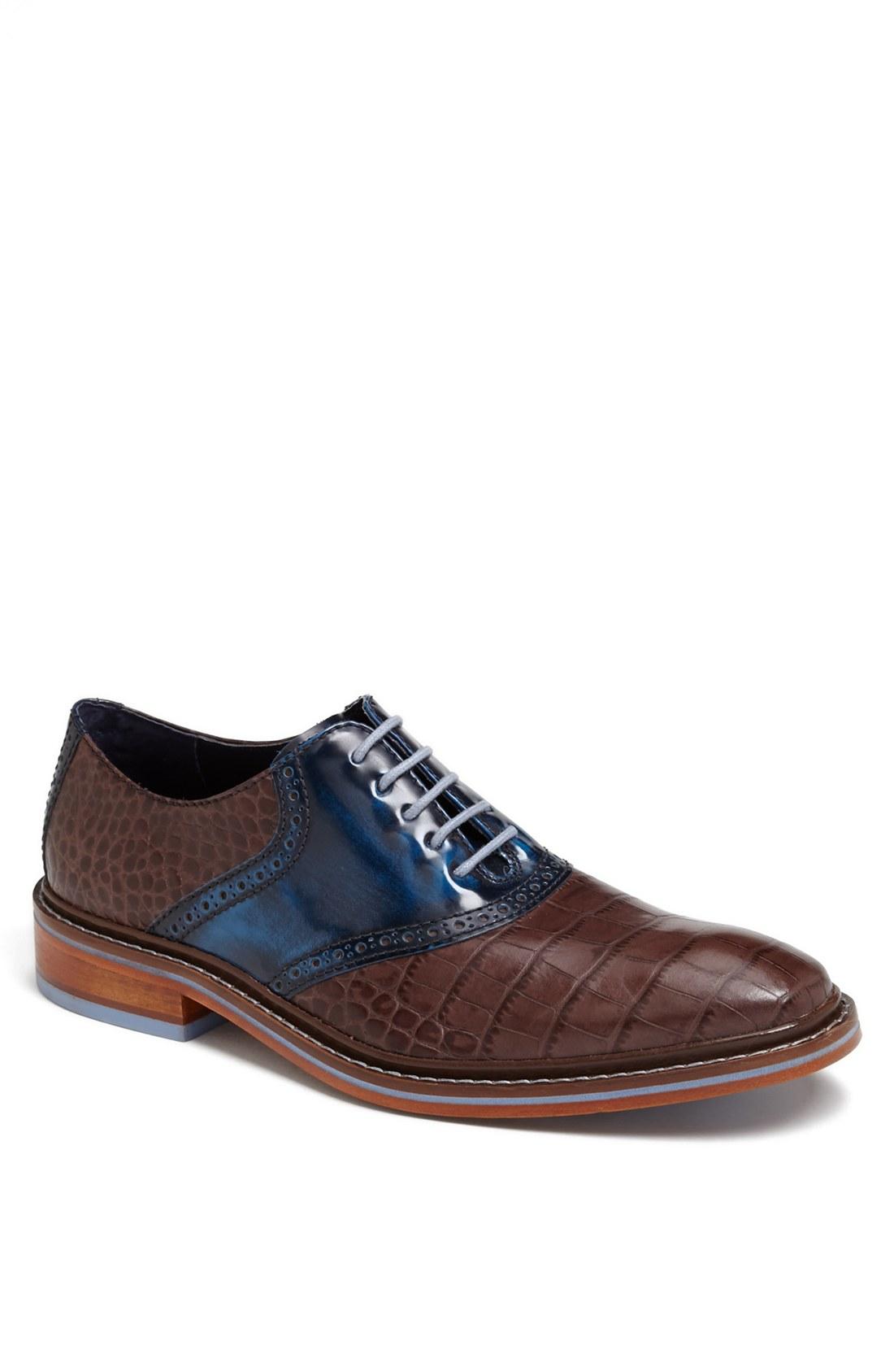 Cole Haan Colton Winter Saddle Shoe in Brown for Men (Chestnut Croc