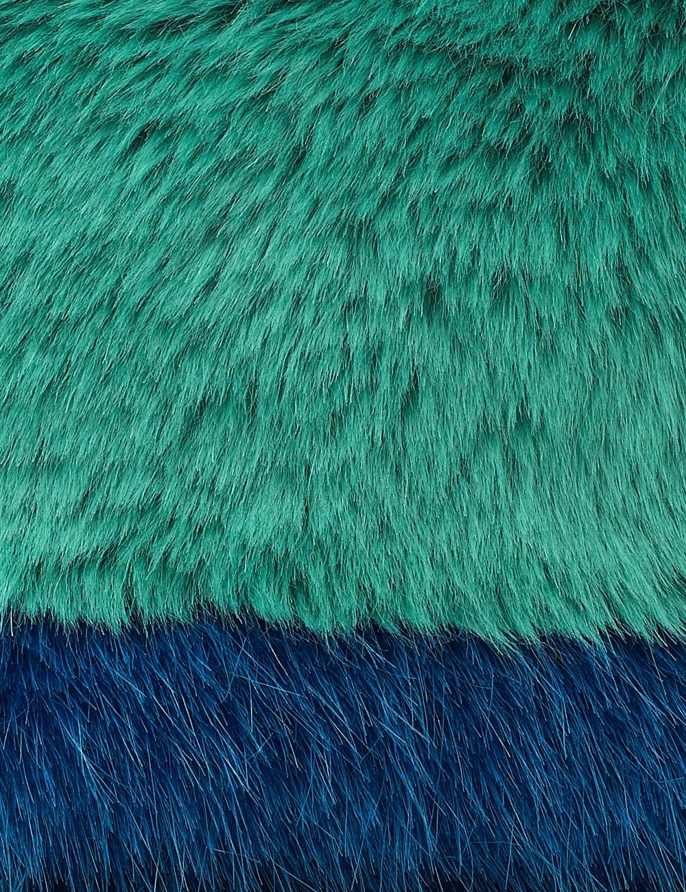 Shrimps Blue Fur Effect Vincent Clutch In Green Lyst