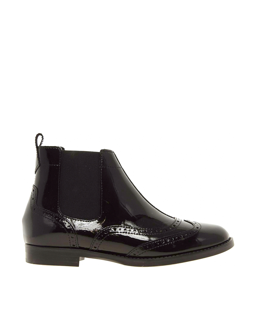 asos anatomy leather chelsea ankle boots in black lyst