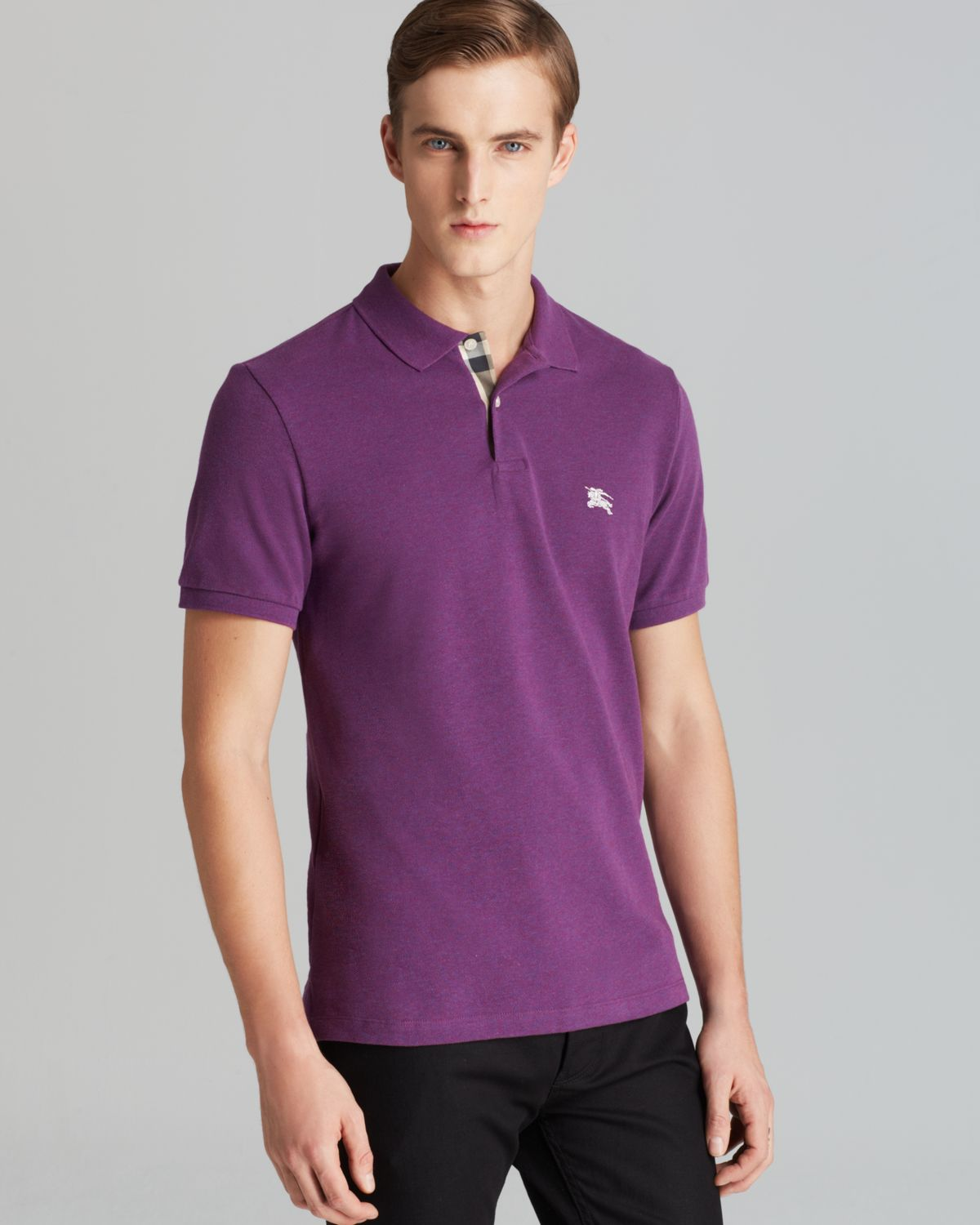 8419529b5 Burberry Brit Modern Fit Polo in Purple for Men - Lyst
