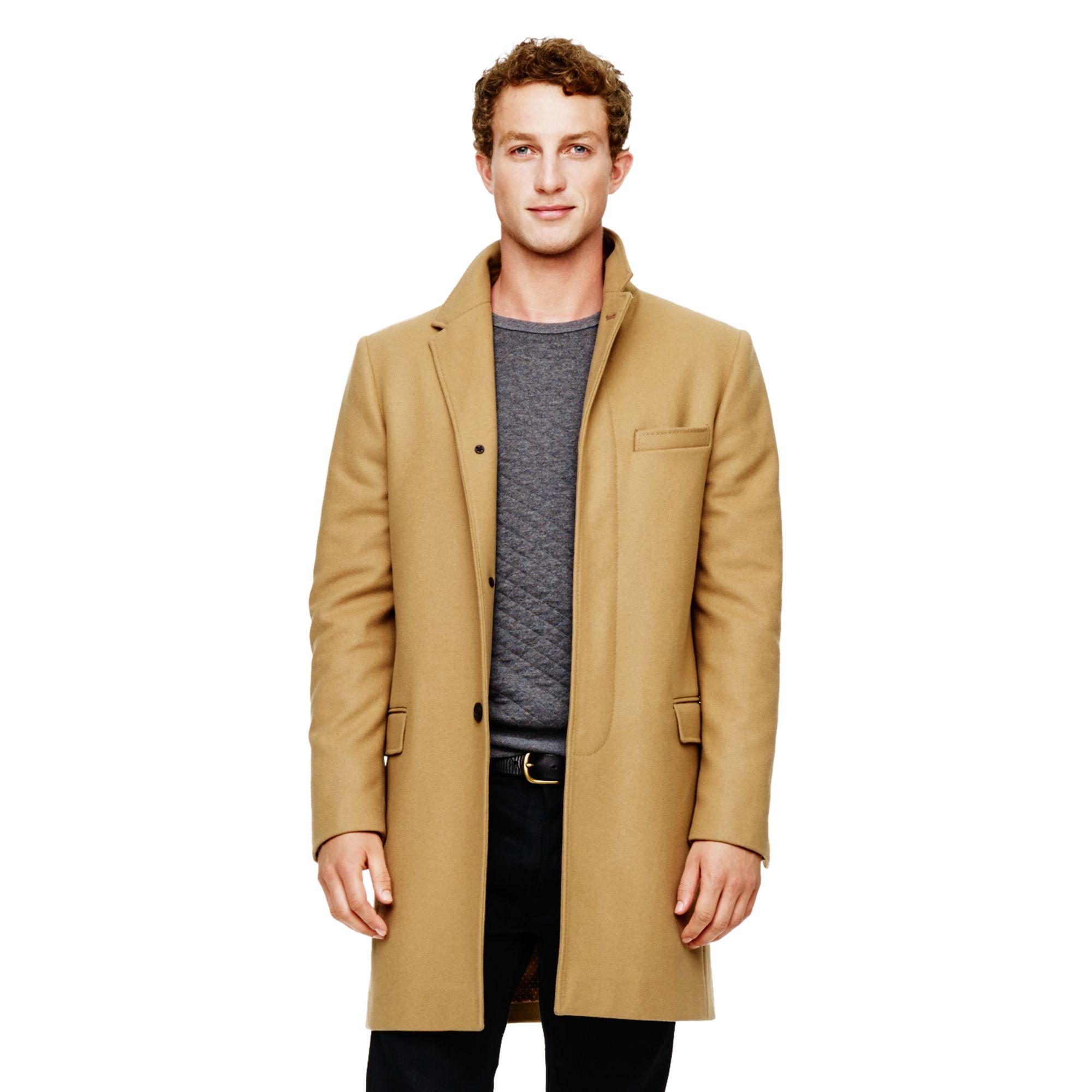 club monaco wool top coat in natural for men lyst. Black Bedroom Furniture Sets. Home Design Ideas
