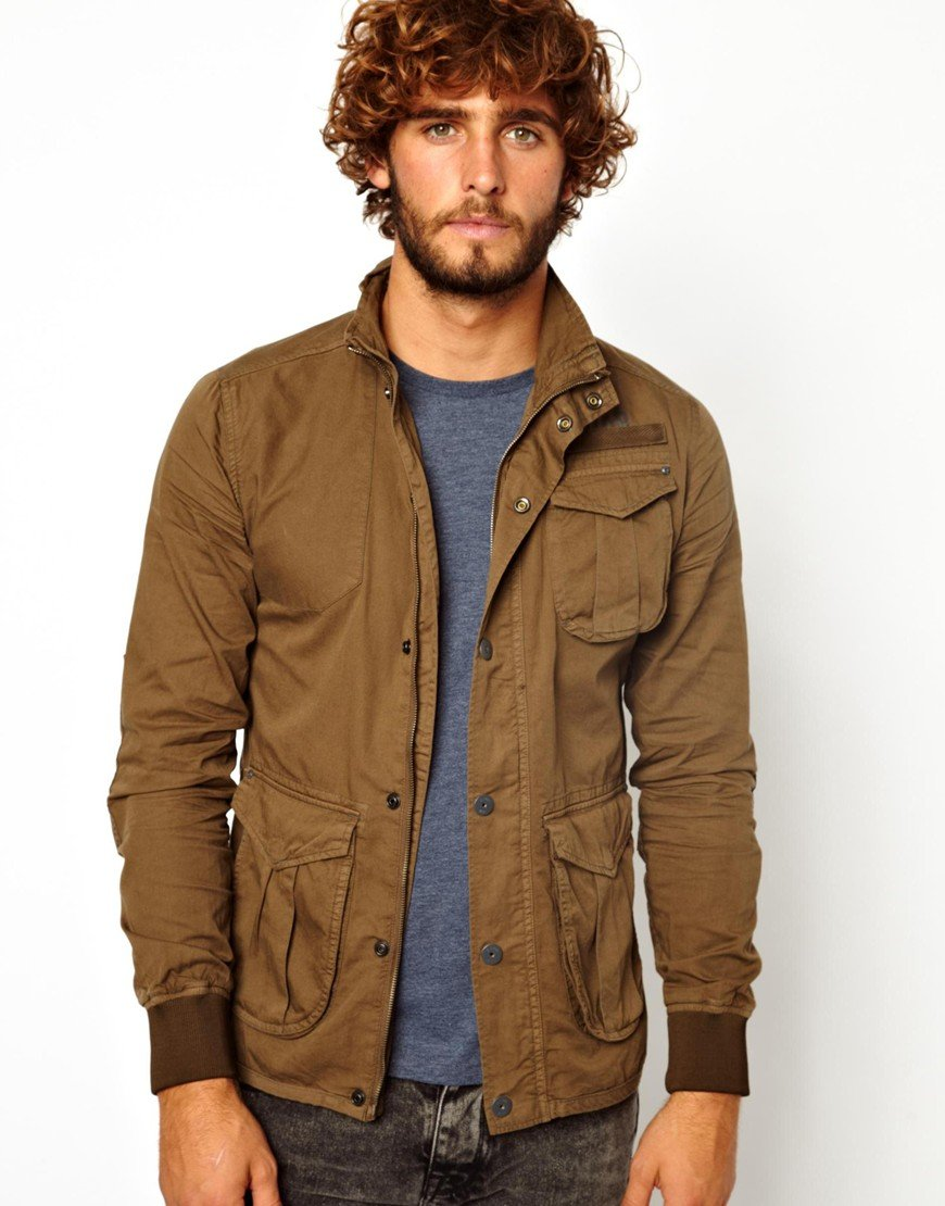 Edwin Gstar Overshirt Jacket Amundsen Military Pocket in Green for ...