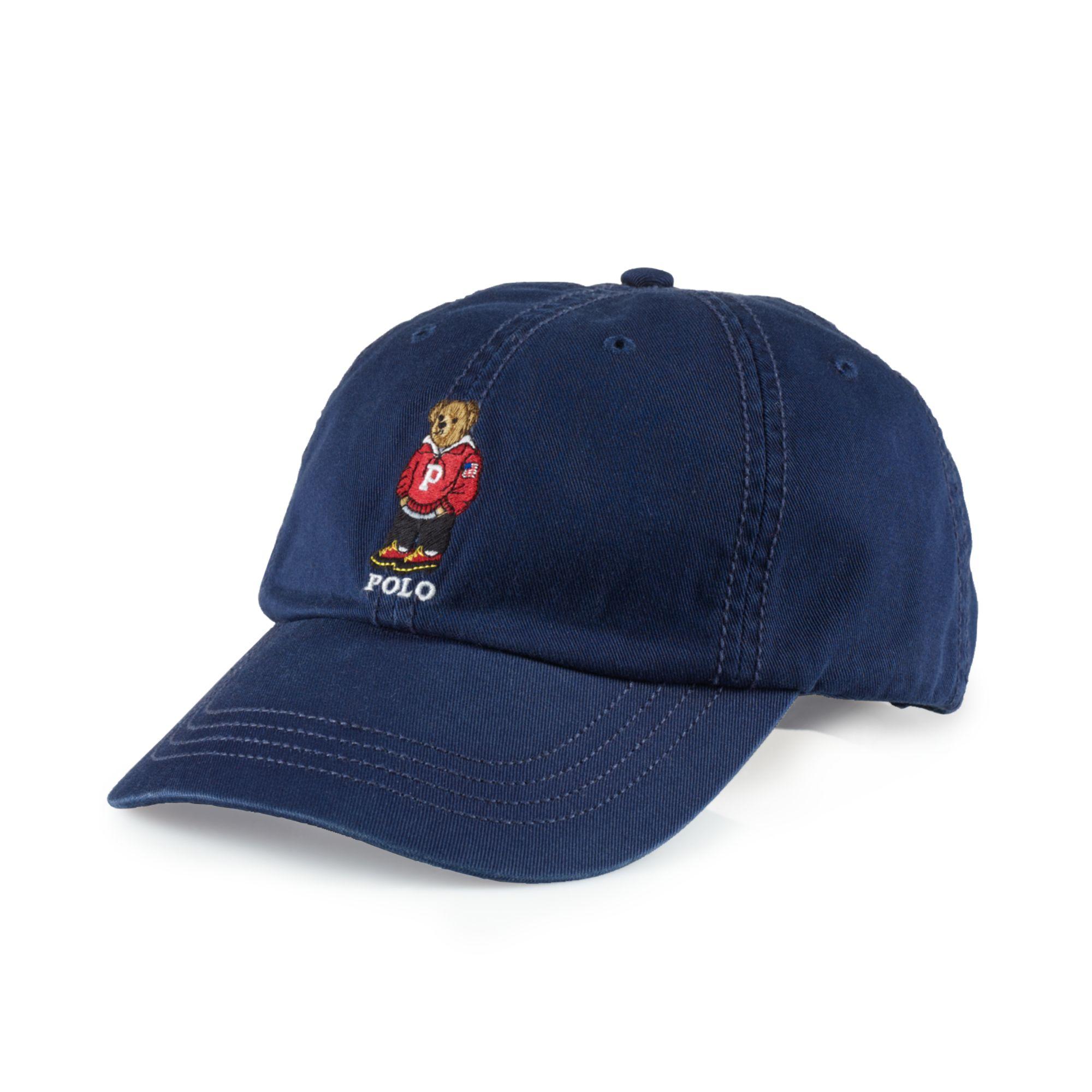 eafb7f3b8ff0f Lyst Ralph Lauren Chino Polo Bear Baseball Cap In Blue For Men