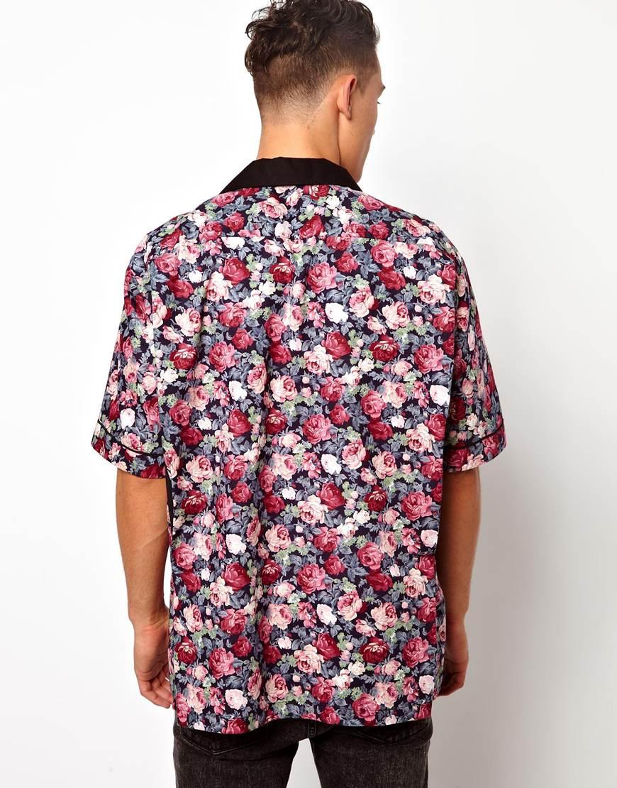 Björn borg Reclaimed Vintage Floral Bowling Shirt in Pink for Men ...