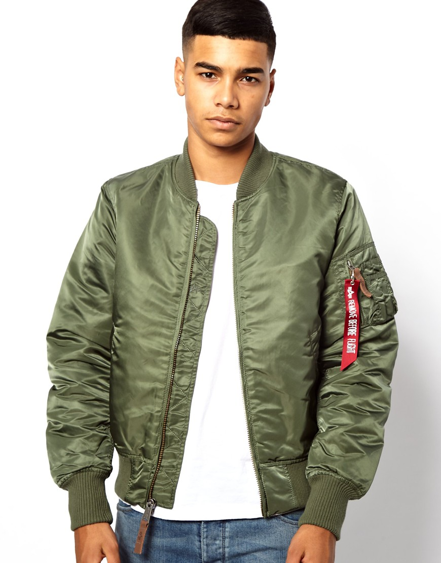 paul smith alpha industries ma1 bomber jacket in green for men lyst. Black Bedroom Furniture Sets. Home Design Ideas
