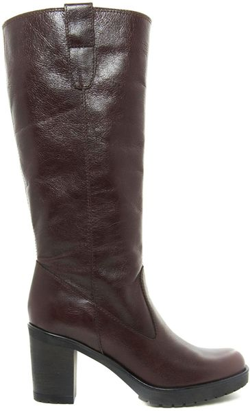 ugg brown leather knee high boots