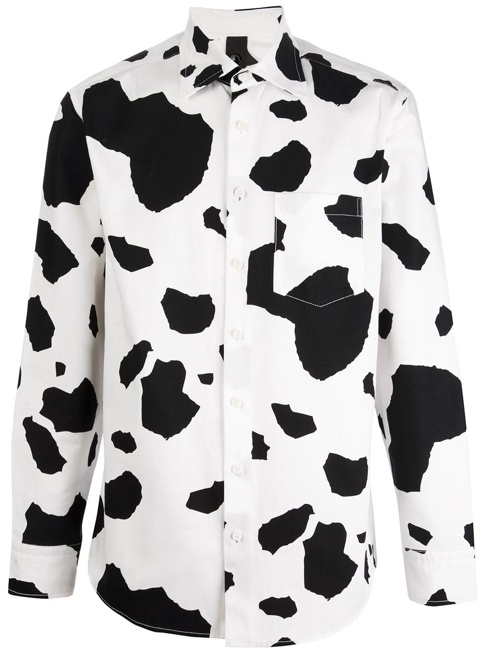 63048834f4 Lyst - Bernhard Willhelm Cow Print Shirt in Black for Men