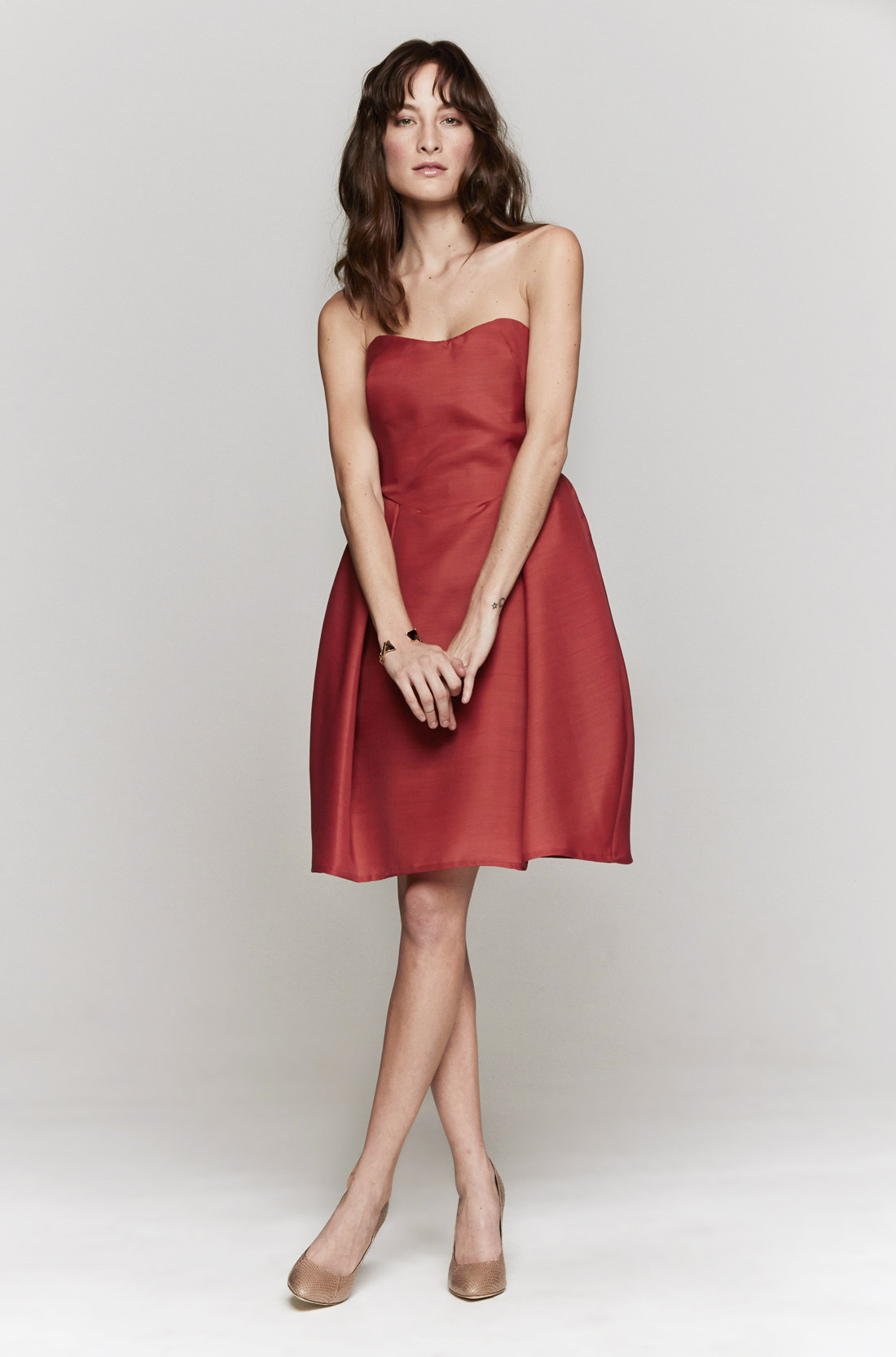 red strapless dresses - Dress Yp