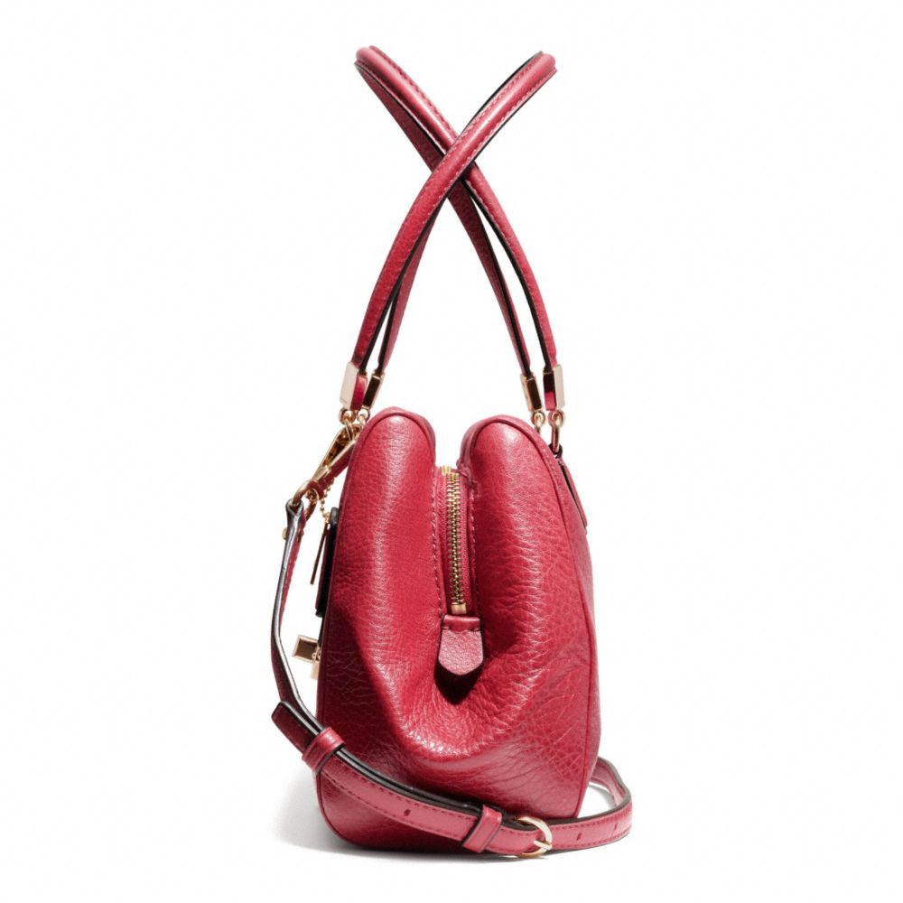 Coach Madison Small Madeline Eastwest Satchel in Leather in Red : Lyst