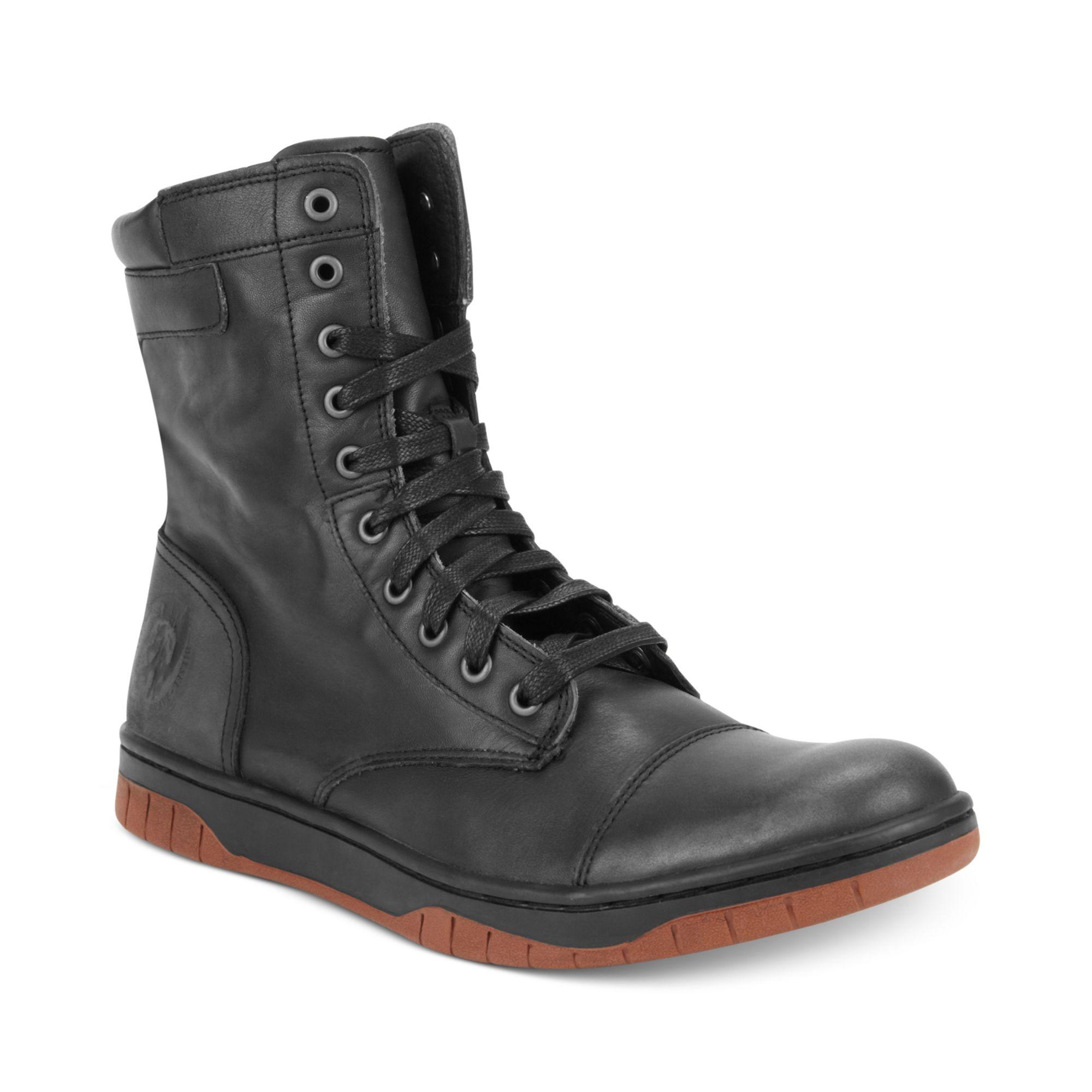 Diesel Tatradium Basket Butch Zip Boot in Black for Men | Lyst