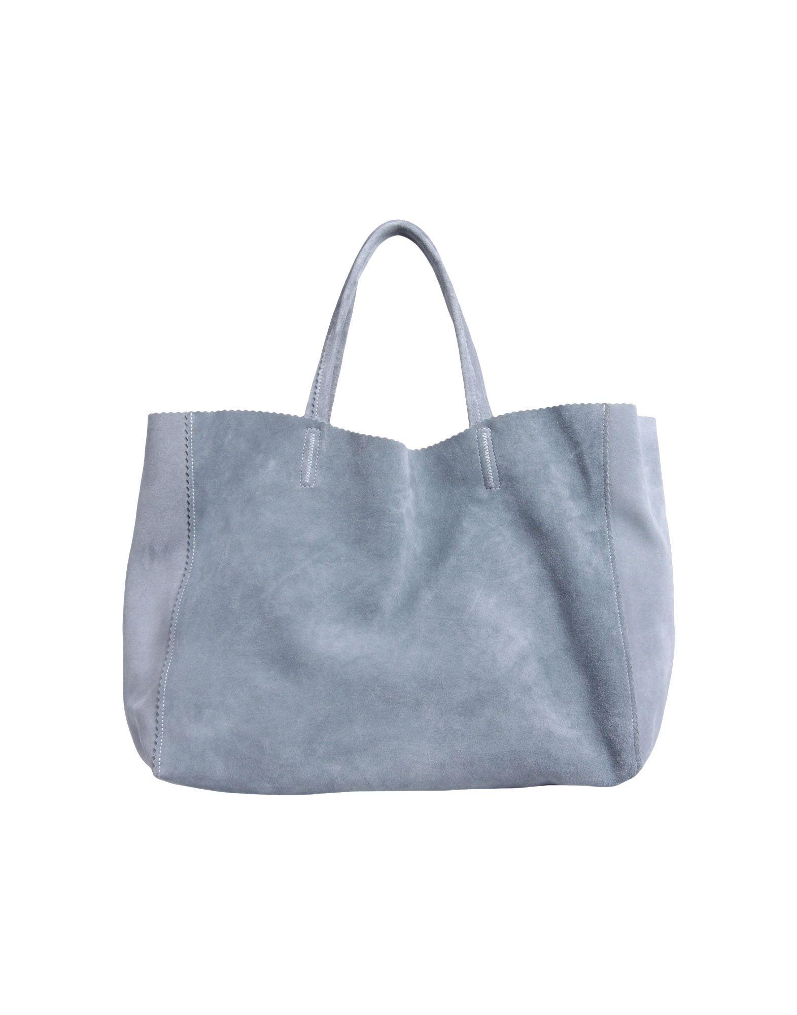 Giorgio Armani Large Leather Bag in Blue (Slate blue)
