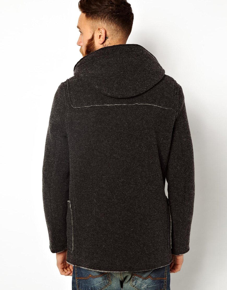 Gloverall Knitted Duffle Coat in Black for Men | Lyst