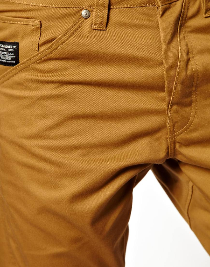 8c529103ac835d Lyst - ASOS Jack Jones Dale Colin Twisted Chinos in Brown for Men