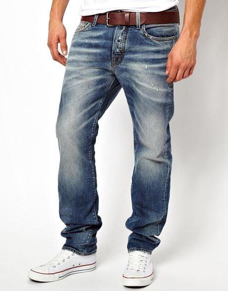 aldo jack jones nick regular fit jeans in blue for men mediumbluedenim lyst. Black Bedroom Furniture Sets. Home Design Ideas