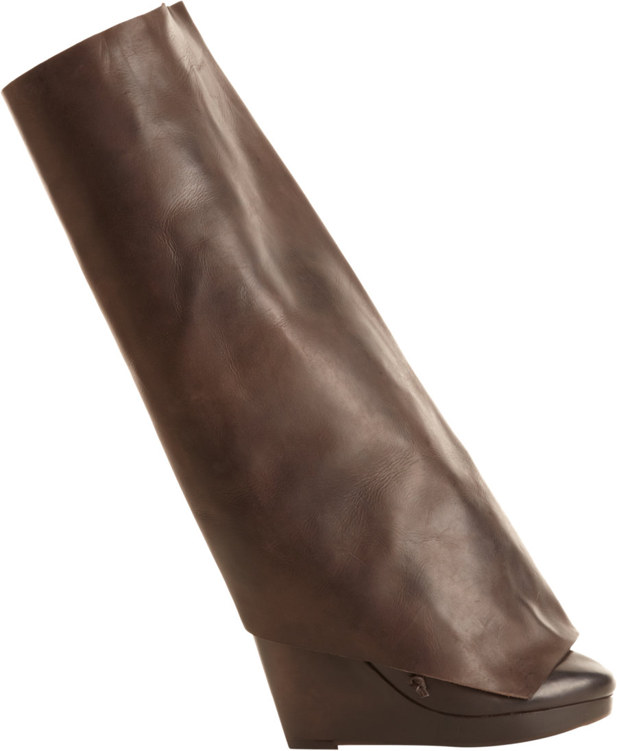 marsell removable shaft boot in brown lyst