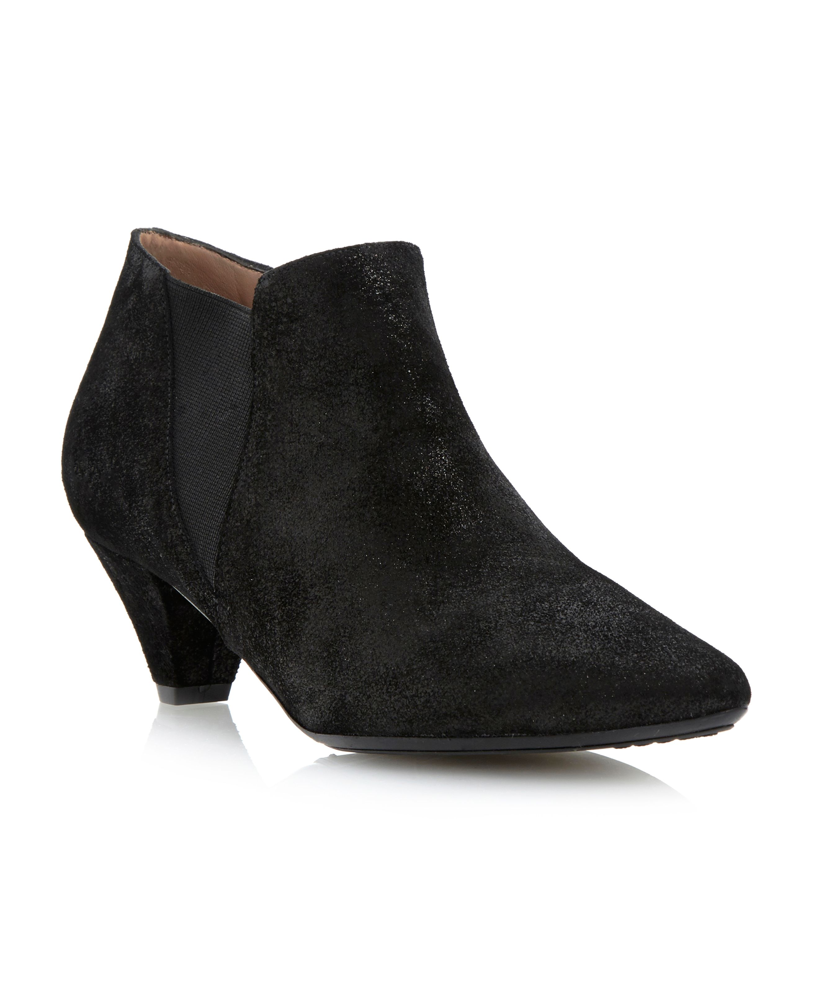 pied a terre saxep kitten heel ankle boots in black black
