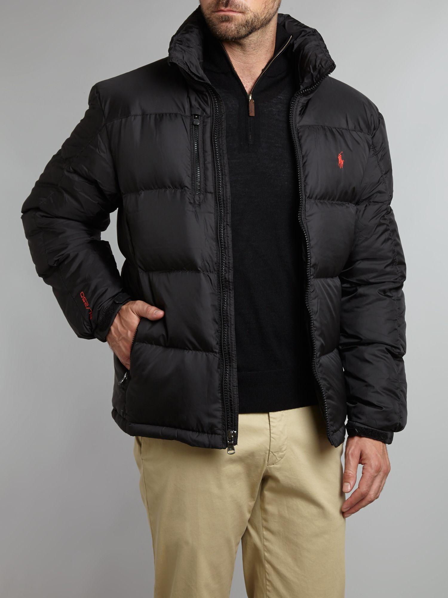 polo ralph lauren core trek padded jacket in black for men lyst. Black Bedroom Furniture Sets. Home Design Ideas