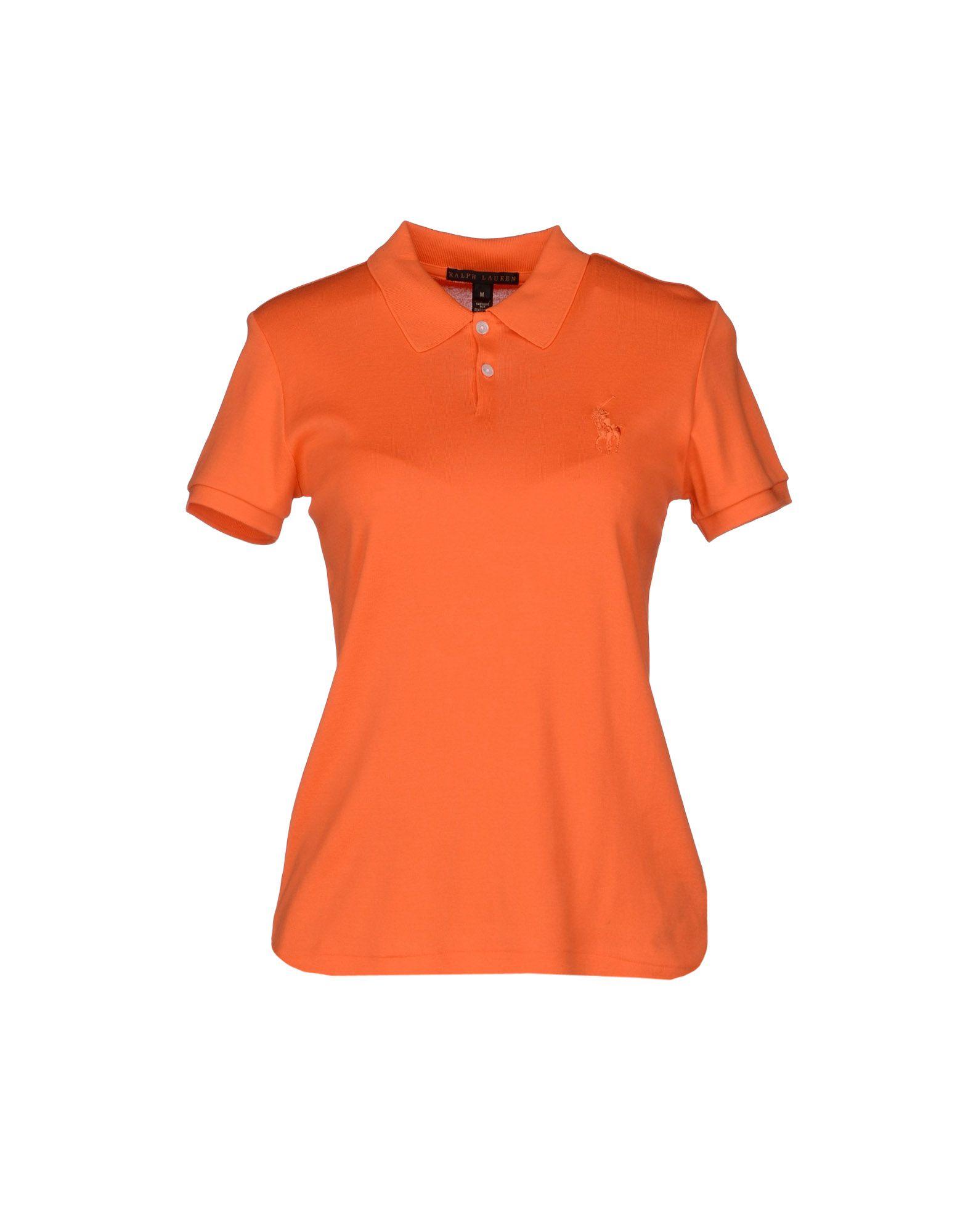 Ralph lauren black label polo shirt in orange lyst for Ralph lauren black label polo shirt