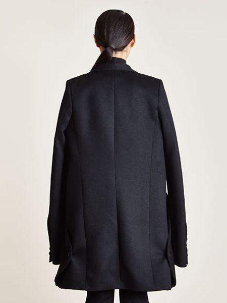 Thamanyah Womens Angora Wool Cape Jacket in Black | Lyst