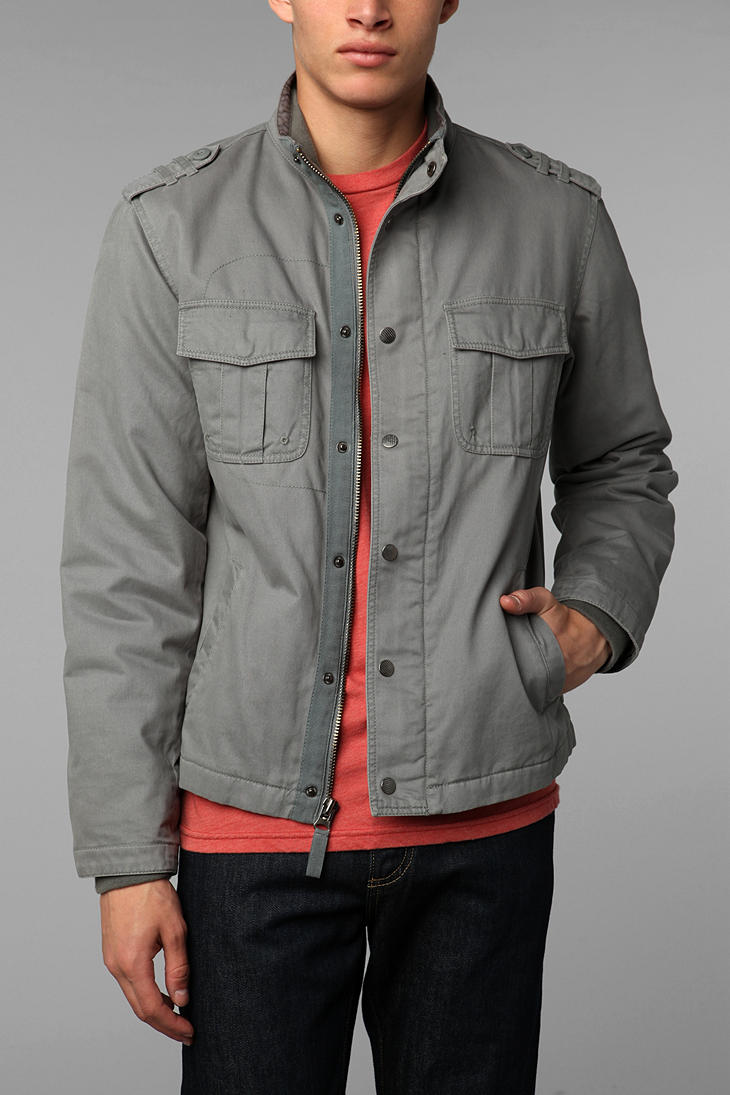 All-son New Valley Military Jacket in Gray for Men | Lyst