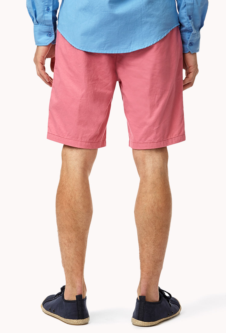 Forever 21 Colored Chino Shorts in Pink for Men | Lyst