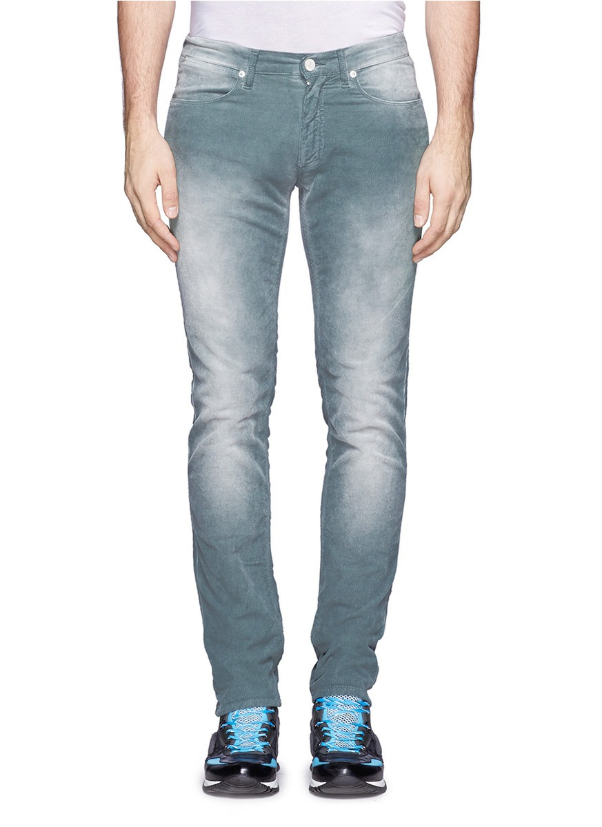 Acne Heavy Stone-wash Corduroy Jeans in Blue for Men | Lyst