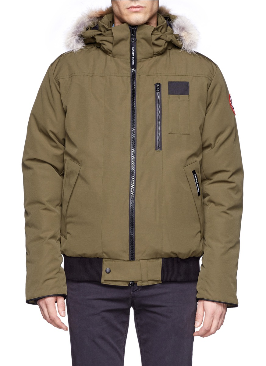 lyst canada goose borden bomber jacket in green for men. Black Bedroom Furniture Sets. Home Design Ideas
