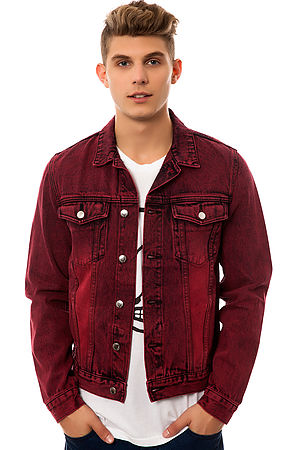 Lyst Cheap Monday The Staple Denim Jacket In Red For Men