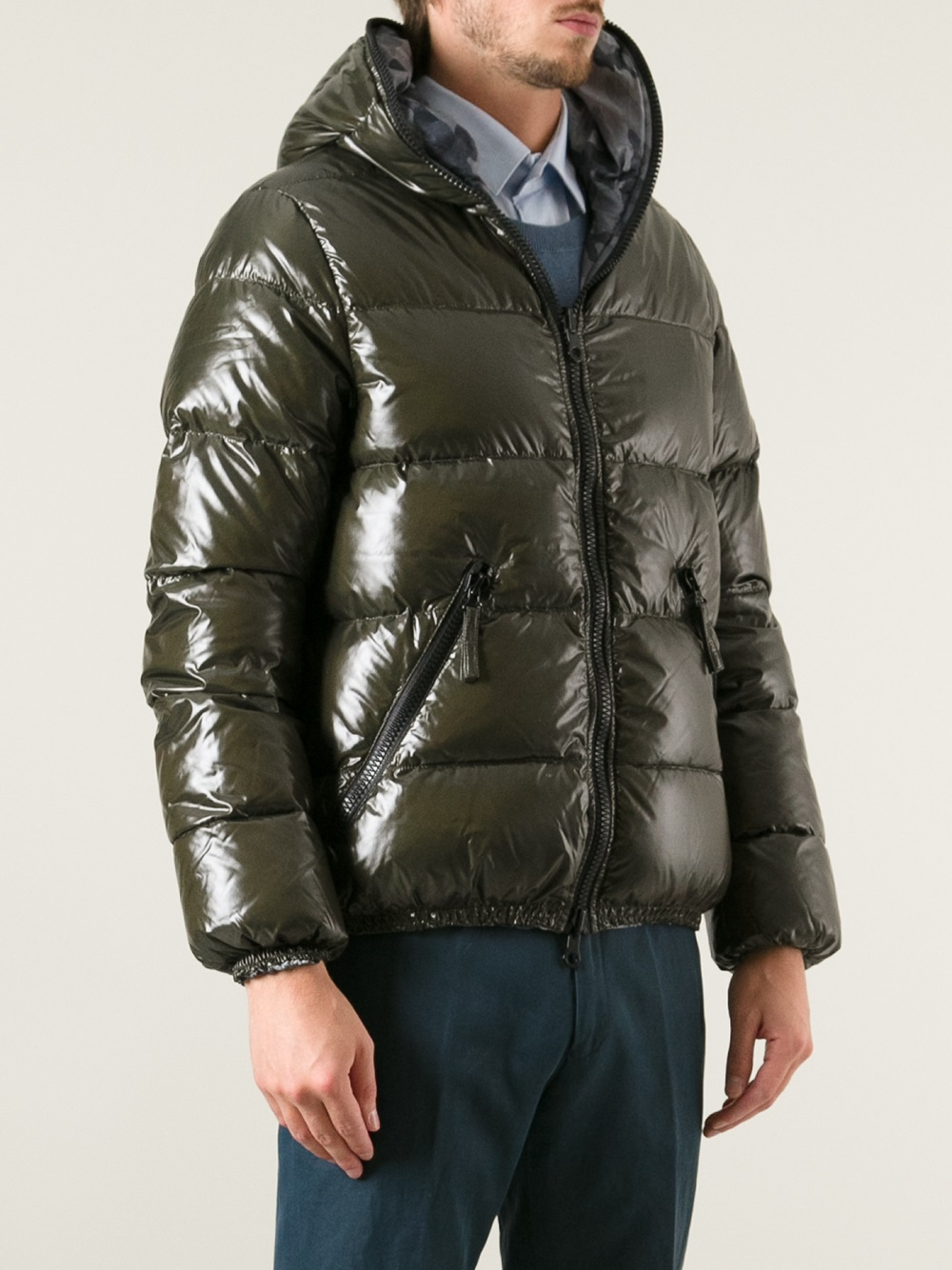 Lyst Duvetica Reversible Puffer Jacket In Green For Men