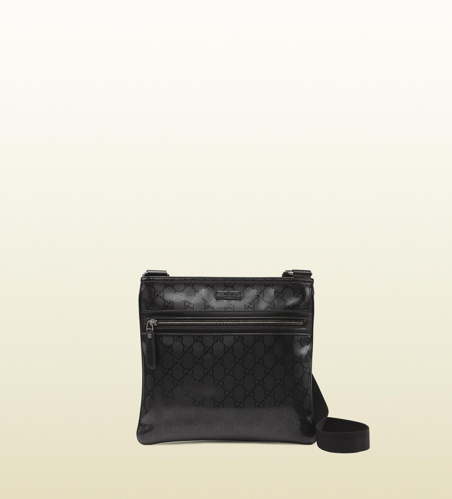 262a03992af6 Gucci Gg Imprime Flat Messenger Bag in Black for Men