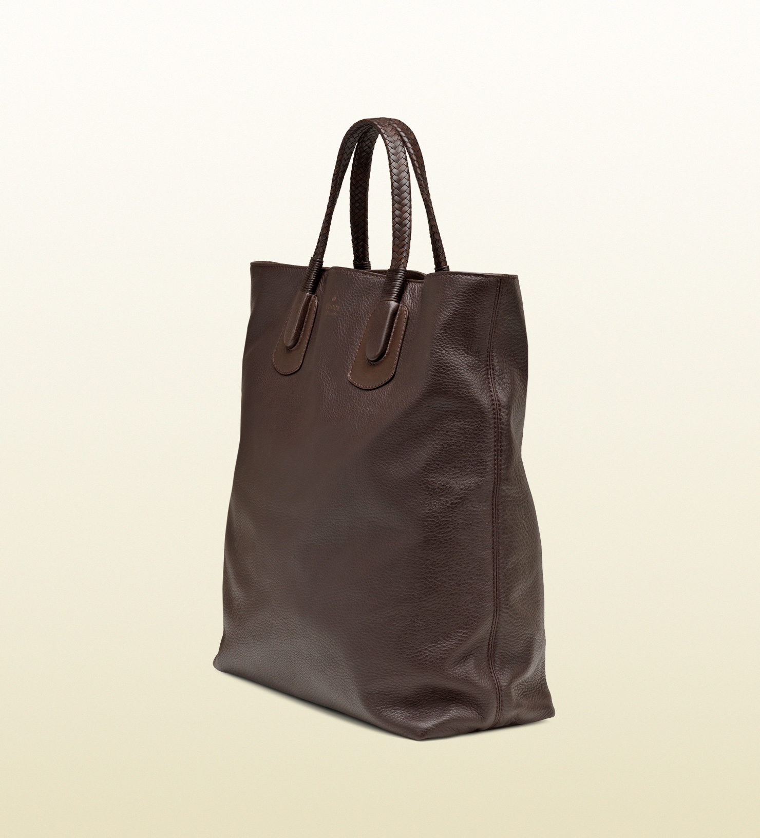 5317345f5c44d Gucci Dark Brown Leather Tote Bag in Brown - Lyst