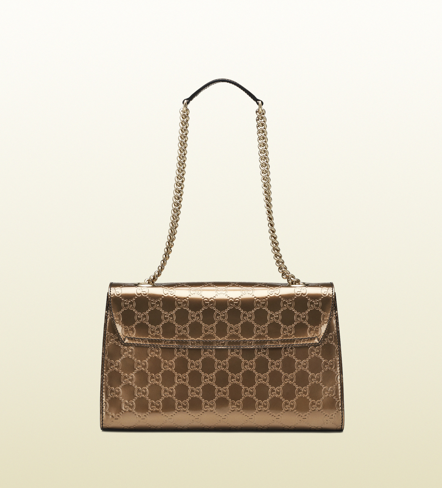 6ca57c07358 Lyst gucci emily ssima leather chain shoulder bag in brown jpg 1480x1632  Straw shoulder bag www