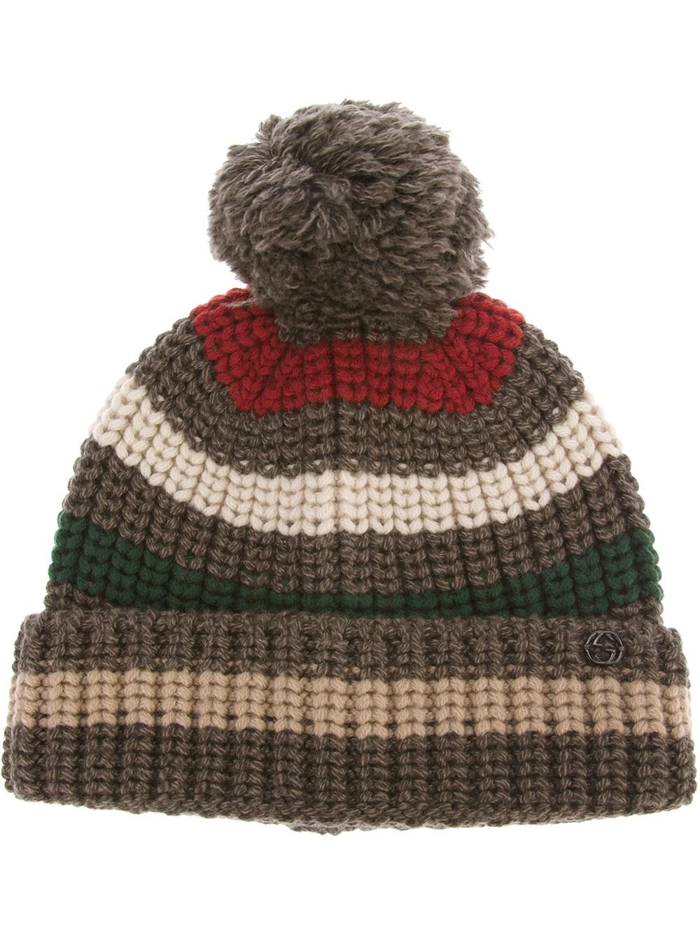 Lyst - Gucci Beanie Hat in Brown for Men 4ec8ea78144