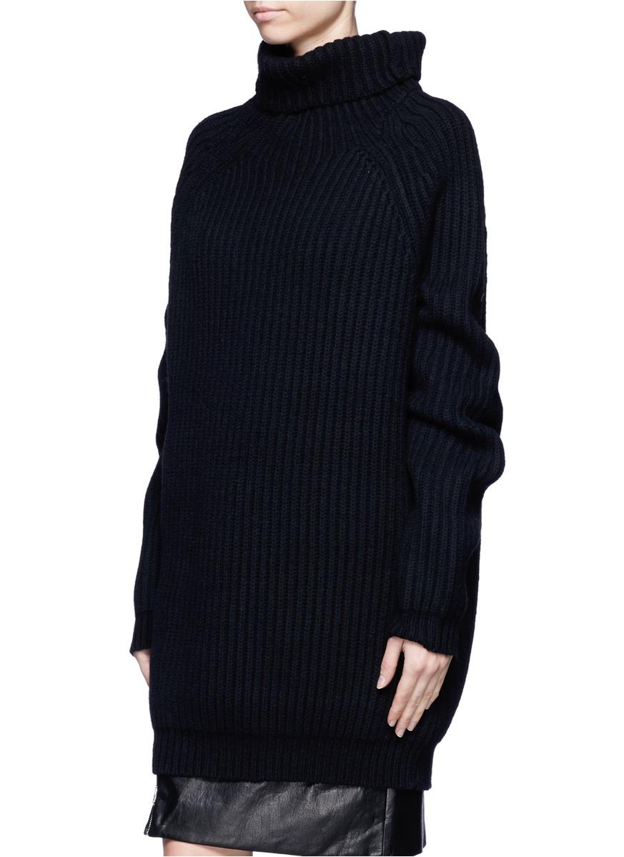 Haider ackermann Chunky Rib-knit Oversized Sweater in Black | Lyst
