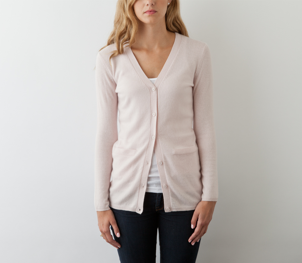 Jack rogers Cashmere Cardigan Sweater in Pink | Lyst