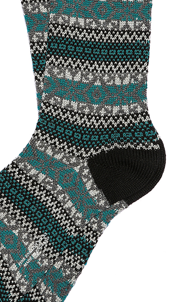 Pantherella Ellery Alpine Fair Isle Socks in Green for Men | Lyst