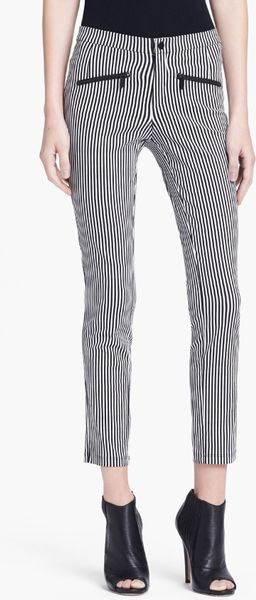 Theyskens Theory Plovef Ipin Skinny Pinstripe Pants In