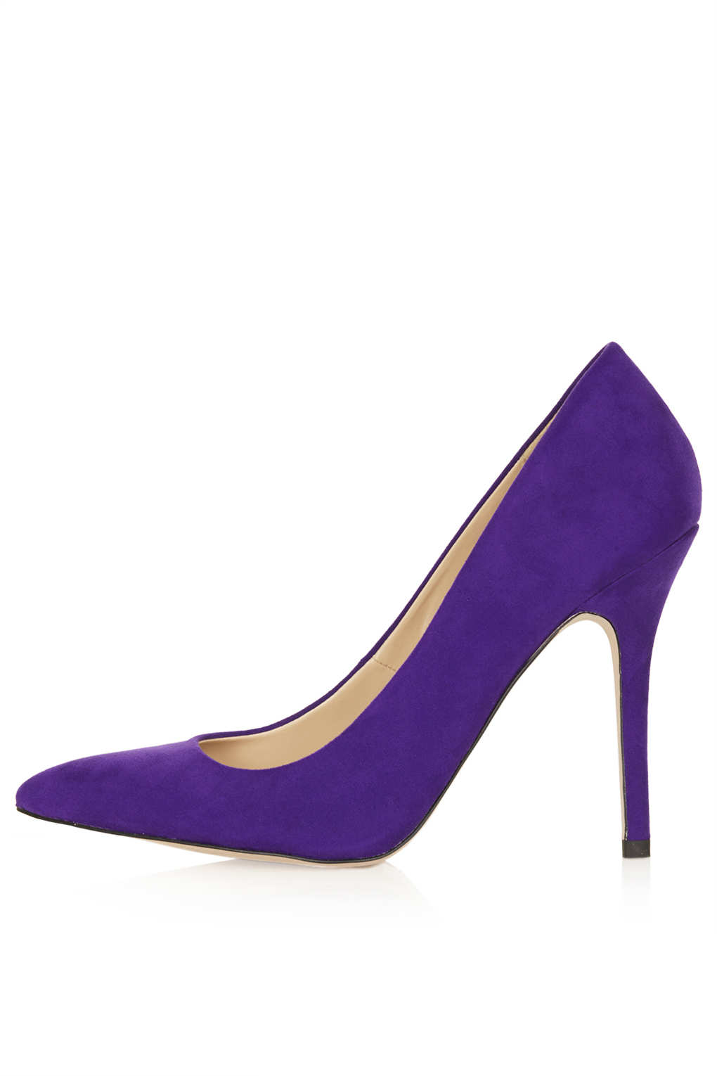 Topshop Simple Court Shoes in Purple | Lyst