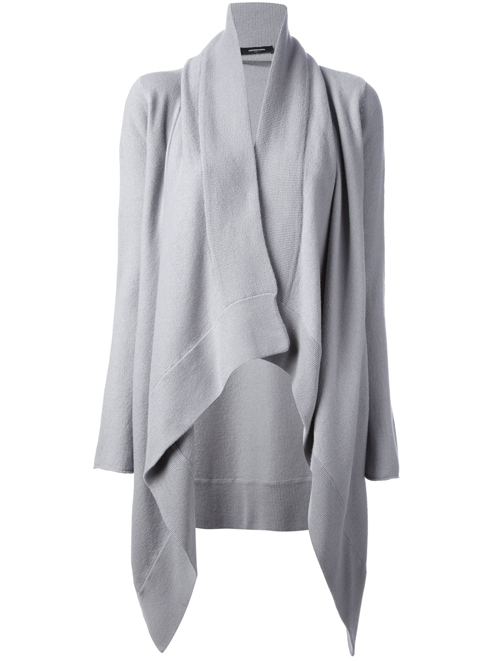 Unconditional Draped Front Cardigan in Gray | Lyst