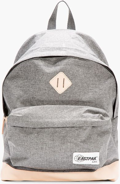 Leather Eastpak Backpack: A.p.c. Grey Leather-Trimmed Eastpak Edition Classic