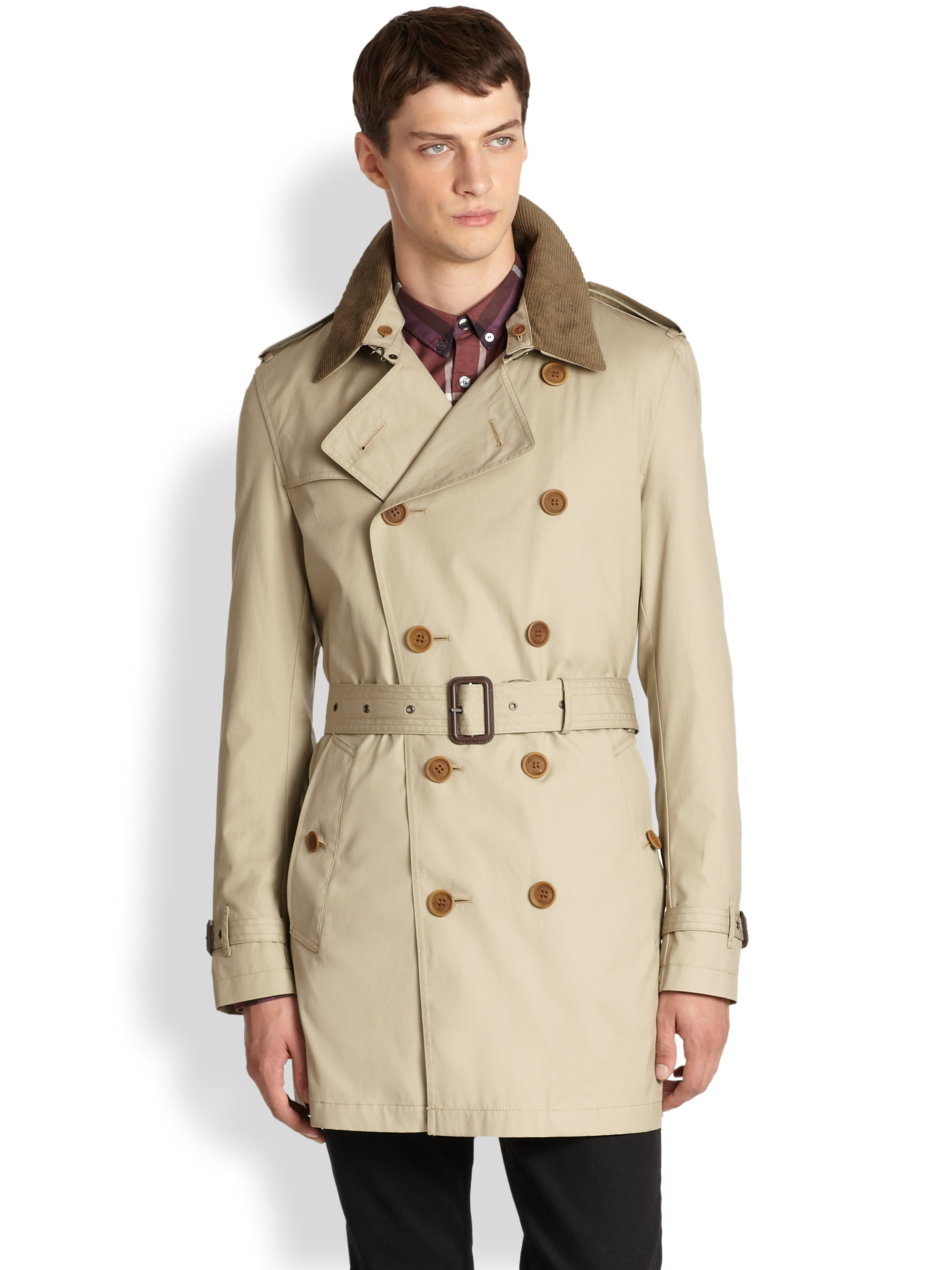 f8c7781485d2 Lyst - Burberry Brit Britton Double Breasted Trench Coat in Natural ...