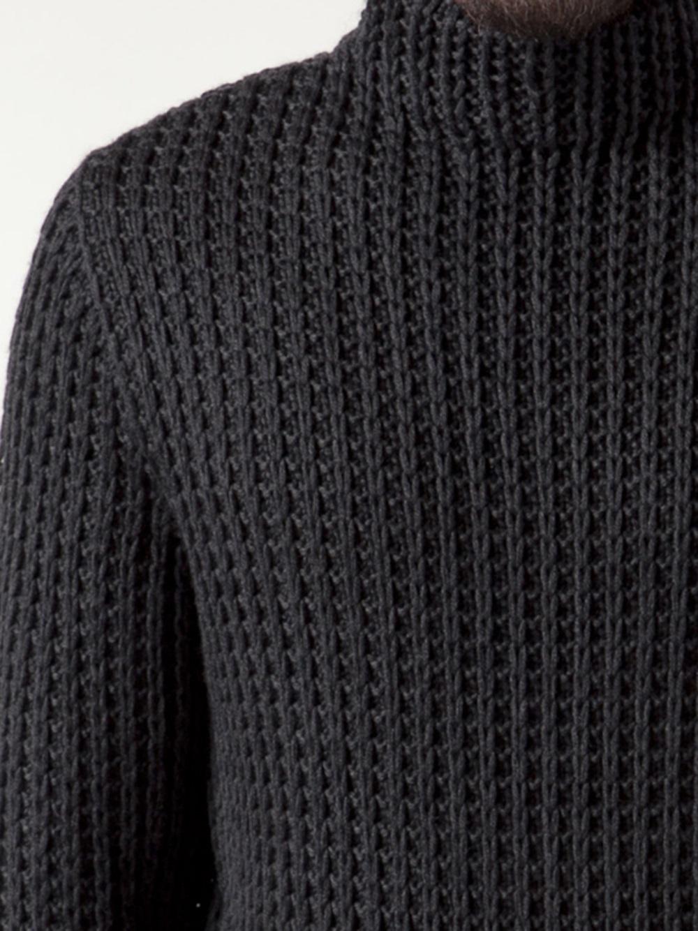Lyst Calvin Klein Chunky Turtleneck Sweater In Gray For Men
