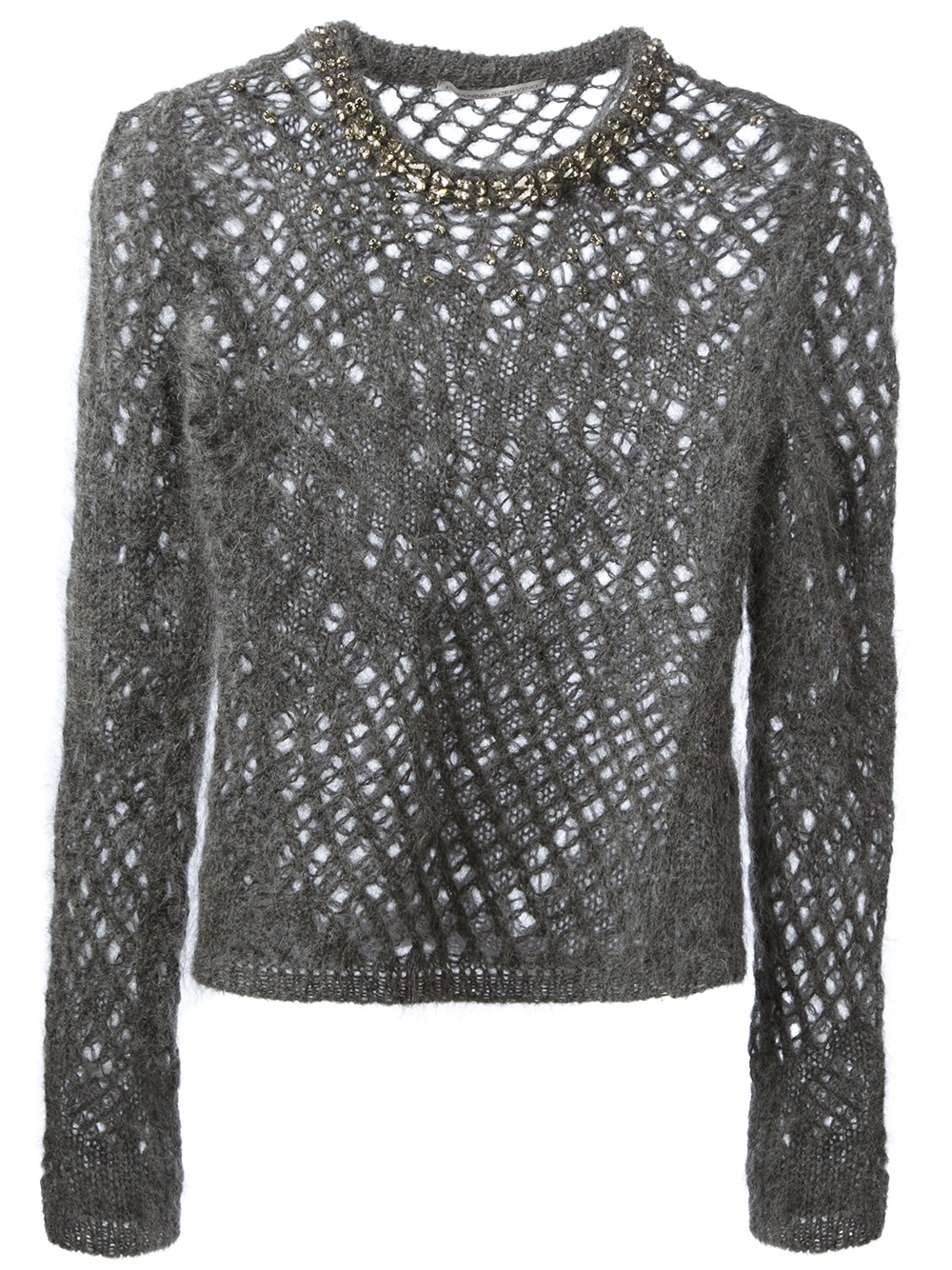 Ermanno scervino Loose Knit Sweater in Gray | Lyst
