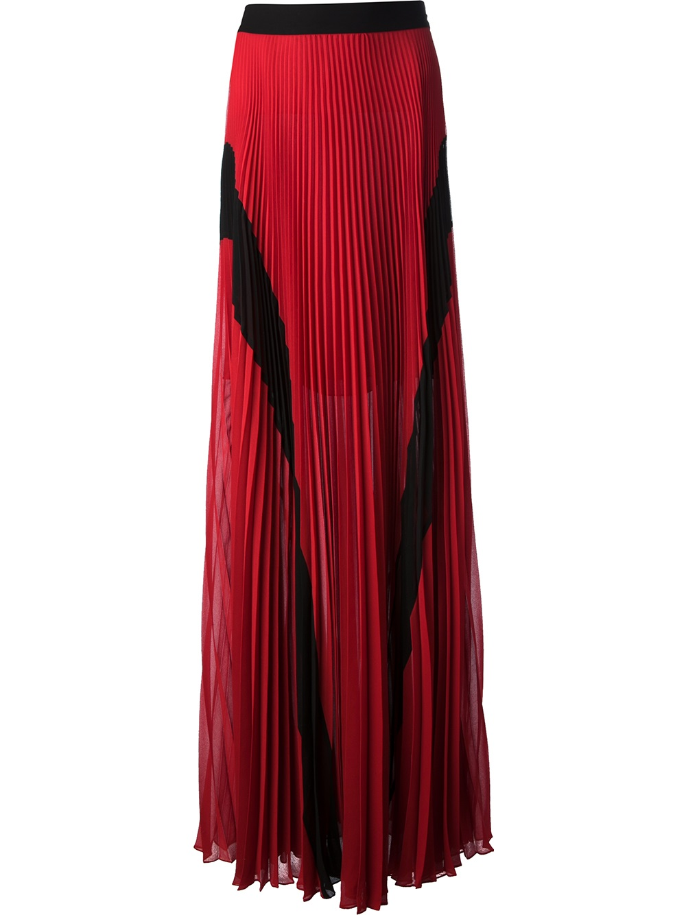 jean paul gaultier pleated maxi skirt in lyst