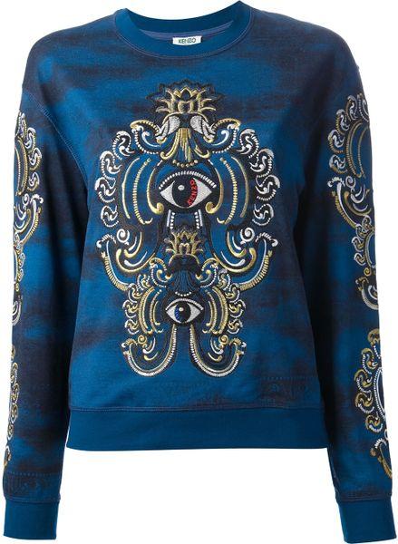 Kenzo Eye Sweatshirt in Blue