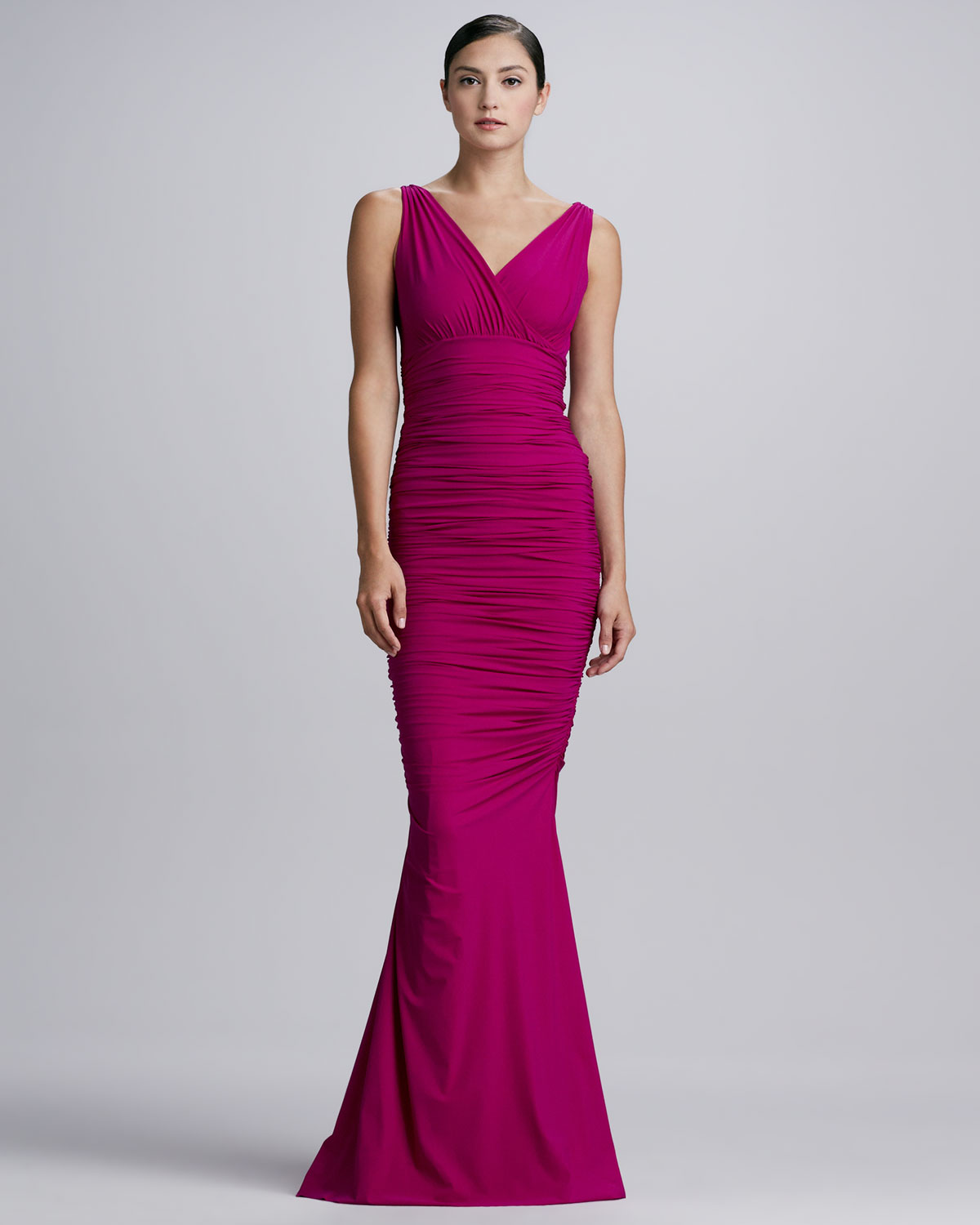 Chiara Boni The Most Popular Dress In America: La Petite Robe Di Chiara Boni Barbe Ruched Vneck