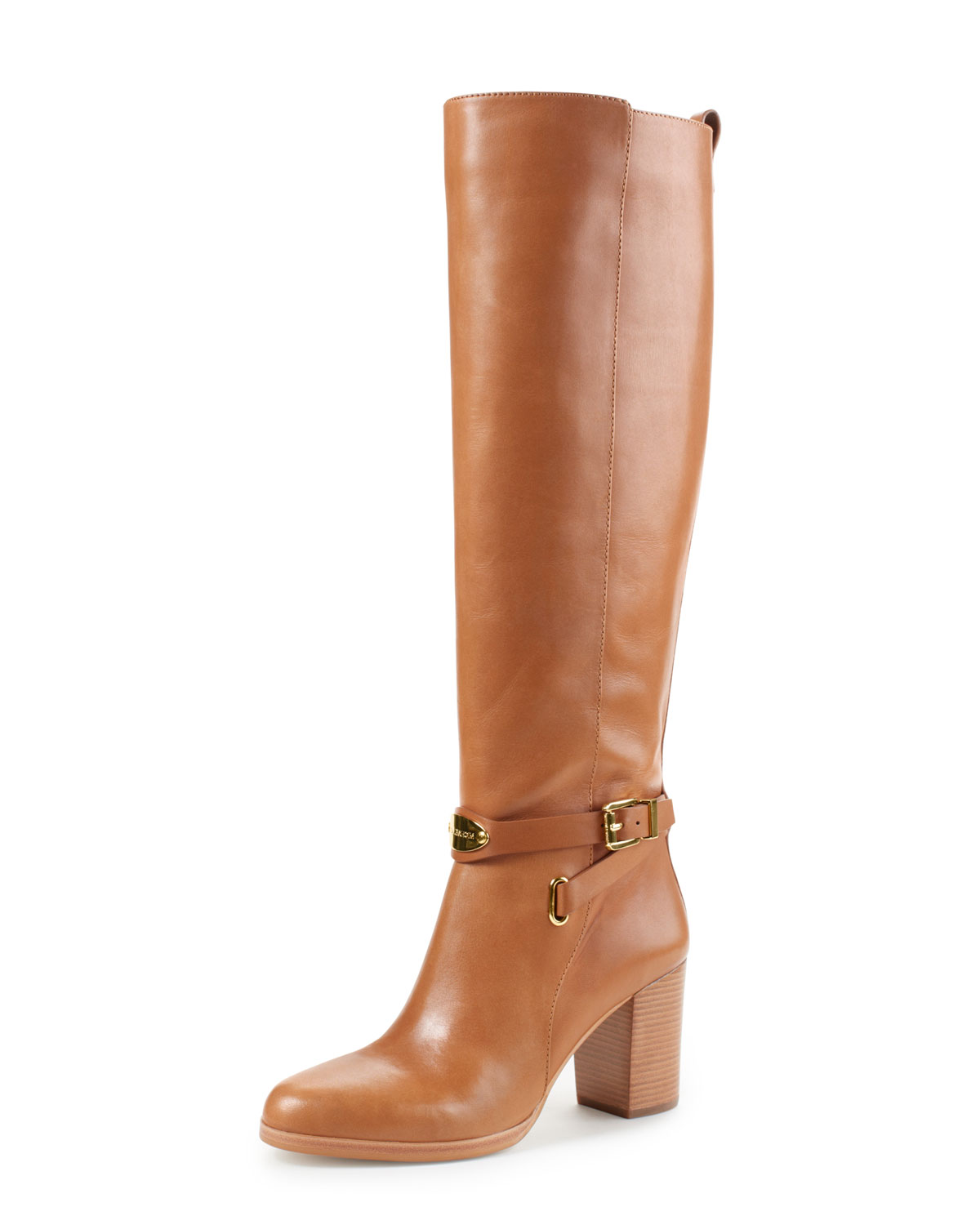 michael michael kors arley riding boot in brown luggage lyst. Black Bedroom Furniture Sets. Home Design Ideas