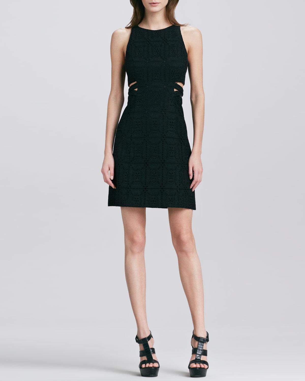 Mediterranean Clothes Style: Nanette Lepore Mediterranean Cutout Sleeveless Dress In