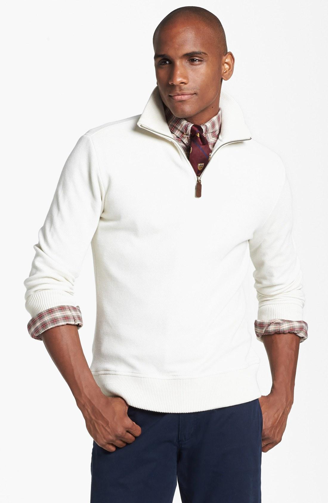 polo ralph lauren alpaca half zip pullover in white for. Black Bedroom Furniture Sets. Home Design Ideas