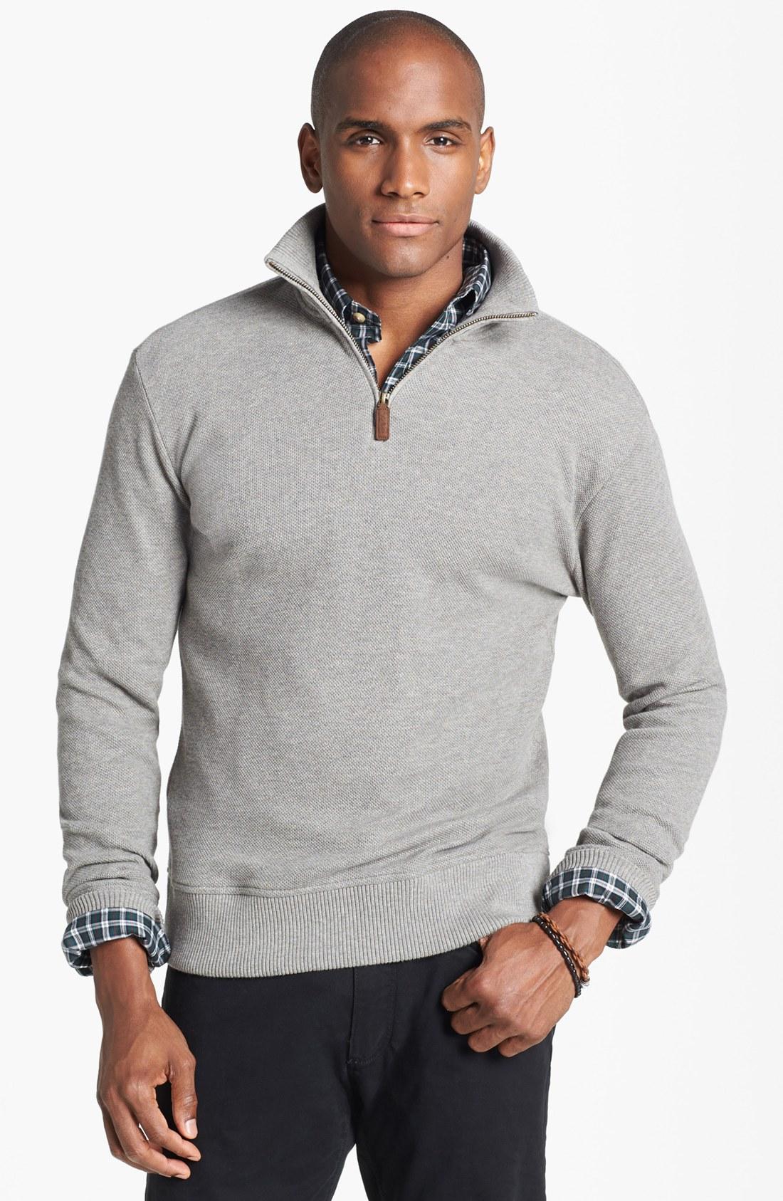 polo ralph lauren alpaca half zip pullover in gray for men. Black Bedroom Furniture Sets. Home Design Ideas